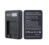 cargador de batería de la cámara con la pantalla para Panasonic negro BCK7