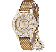 Ladies's Watch The New Diamond Swan Pendant Snake Effect Leather Ladies Casual Watch