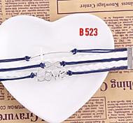 Fashion Women Handmade Woven Bangle Charm Bracelet Jewelry