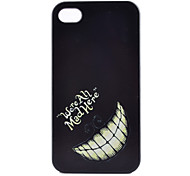 Tooth  Pattern PC Hard Case for iPhone 4/4S