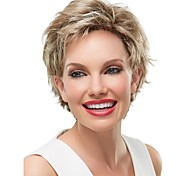 Fashion Lady Short Brown Blonde Mixed Curly Cosplay Wig