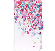 Cherry Blossoms Fall Pattern PU Leather Wallet Full Body Case with Card Slot And Stands for Motorola MOTO G3 3rd Gen