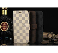 Flip Case Lattice Wallet Case Support  Simple PU Mobile Phone Shell for iphone 6/6s plus 5.5 Assorted Colors