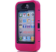 Three Anti-,Waterproof,Drop Resistance,Dustproof Phone Sets Silicone Case Protect For iPhone 4/4S(Assorted Color)