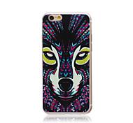 estilo lobo tribal transparente TPU macio Capa para iPhone 5c