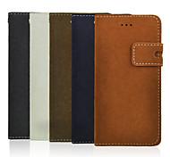 venta caliente líneas de ratones soporte de la PU billetera casos de la cubierta del teléfono para iphone 6 4.7 pulgadas (color