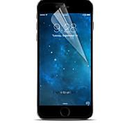 crystal lcd protetor de tela clara profissional de alta transparência com pano de limpeza para o iphone 6 / 6s