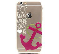 Pink Anchors Pattern TPU Cell Phone Soft Shell For iPhone 6 Plus