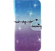 hellblaues Muster PU-Leder-Tasche für Samsung Galaxy S6 / S6 Galaxienrand / galaxy s6 Kante sowie