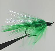 """Mosche / Esca Mosche 0.1g g / <1/18 Oncia mm / 1-3/8"""" pollice 12 pc Pesca a mosca , Verde Metallo"""