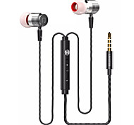 Langsdom A1 High Quality 3.5mm Noise-Cancelling Mike In Ear Earphone for iPhone and Other Phones(Assorted Colors)