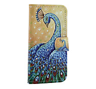 Peacock  Pattern With Diamond Phone Case For iPhone 5/5S