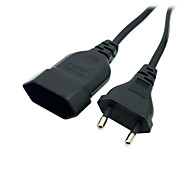European EU 2 Prong VDE Male to Female Power Extension Cord Cable 1.8m for PC Computer PDU UPS