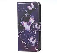 moda viola farfalla modello in pelle di vibrazione del raccoglitore con il caso del basamento per Acer z410 liquido casse del telefono
