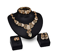 Women Wedding Jewelery Bridal Dinner Party Inverted Gourd Conch Necklace Bracelet Rings Earrings Four - piece