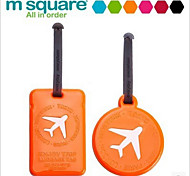 Roundness Square Swift PVC Luggage Tag Luggage Card Brand Identity Cards Checked Tag