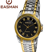 EASMan Men Golden Watch Brand Men Casual Roma Steel Style Quartz Watches For Men Wristwatches