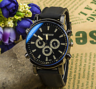 Men's Watches Silicone Strap Big Face Stainless Steel Dial Casual Quartz Male Watches