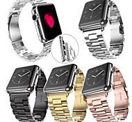 negro / amarillo dorado / ip rosa de oro chapado en acero banda de reloj de manzana banda de 38 mm / 42 mm de tres colores