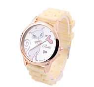 Silica gel Korean fashion 4colors  women's digital watch free'shipping