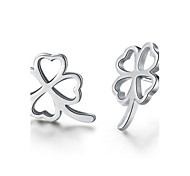 WH   925 Silver Clover Earrings