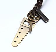 vilam® double anneau vu adujustable collier PU cuir Pendentif de Celtic Cross Hommes