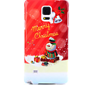 Snowman UV Varnish PC Material Christmas Phone Case for Samsung Galaxy Note 3/4/5