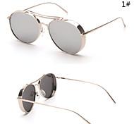 Sunglasses Women's Modern / Fashion Oval Silver / Gold Sunglasses Full-Rim
