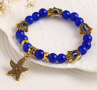 Fashion Unisex European Style Alloy Sea Star Shape Elasticity Bangle(Random Color)