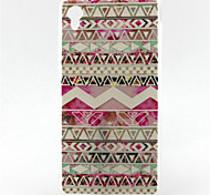 Lovely Pink Painting Pattern TPU Soft Case for Sony Xperia M4 Aqua