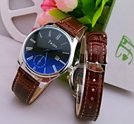 L.WEST Men's Blue Glass Roman The Belt Of Waterproof Quartz Pointer Watch Cool Watch Unique Watch