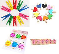Color Painted Wooden Clips Set(Assorted Color)
