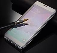 Für Samsung Galaxy Note Spiegel / Flipbare Hülle Hülle Handyhülle für das ganze Handy Hülle Einheitliche Farbe PC Samsung Note 5 / Note 4