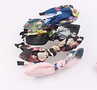 Art Painting Silk Mesh Rabbit Ears Knot Head Band