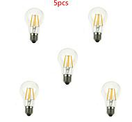 Lámparas LED de Filamento Decorativa HRY A60 E26/E27 4.0 W 4 LED de Alta Potencia 400LM LM Blanco Cálido / Blanco Fresco AC 100-240 V5