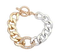 European Style Fashion Exaggerated Rhinestone Chain Bracelet