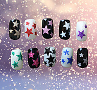 1PCS  Star  3D Nail Sticker Decals 10  Color