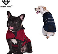Cat / Dog Coat / Jacket Red / Green / Blue / Brown Dog Clothes Winter Solid Keep Warm / Windproof