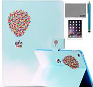 motif de Voyage du ballon lexy® cas de stand PU cuir flip avec protecteur d'écran et un stylet pour iPad air 2 / ipad 6