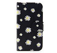 estampado de flores de la PU funda de teléfono de cuero para Samsung Galaxy J1 (2016) / J5 Galaxy (2016)