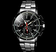 Men's Casual Silver Black Alloy Quartz Wrist Watch Cool Watch Unique Watch