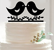 Just Married Wedding Cake Topper Personalize Monogram Bird Event Party Supplies Cake Accessory Decorations Tools