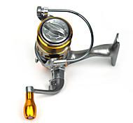 fddl ® mini metallo pesca spinning reel 12 + 1 cuscinetto a sfere tasso di cambio 5.2: 1 maniglia intercambiabile