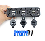 Scolour 12 V mobil soket pemantik rokok, Voltmeter USB Charger untuk GPS ponsel