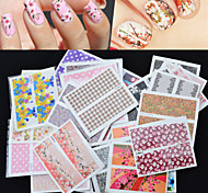 Mix 50pcs/pack Nail Art Water Transfer Flower Design Nail Sticker Watermark Decals