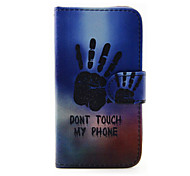 patrón de la mano de la PU funda de teléfono de cuero para Samsung Galaxy J1 (2016) / J5 Galaxy (2016)