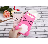 Silicone Material Smiling Face Doll Style for iPhone 6Plus (Assorted Colors)