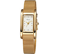 KIMIO® Silver Fashion Rhinestone Rectangle Case Mesh straps Quartz Watches Cool Watches Unique Watches
