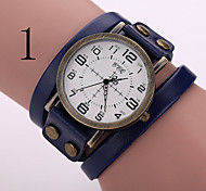 Woman's Watch Retro Punk Style Leather Strap Watch