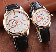 Fashion Leather Band Quartz Couple Wrist Watches